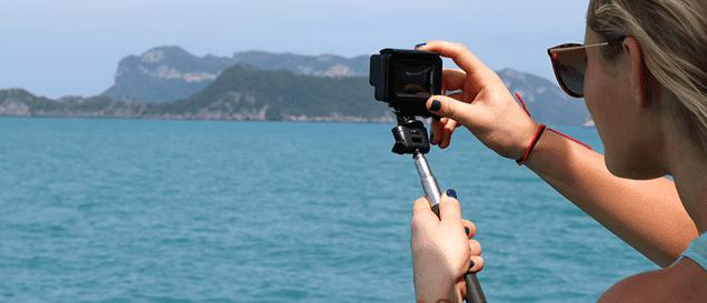 action-cam-urlaub-reisen-meer, action-cam mit zubehör