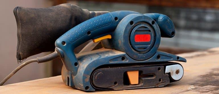 Staubfangkassette an Bandschleifer