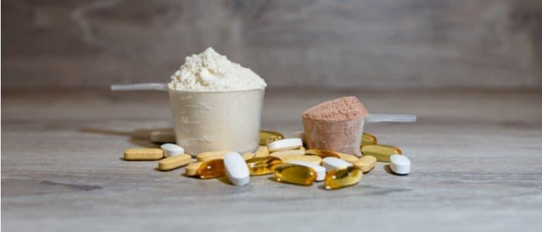 Eiweißpulver Nahrungsergängzungsmittel für Sportler