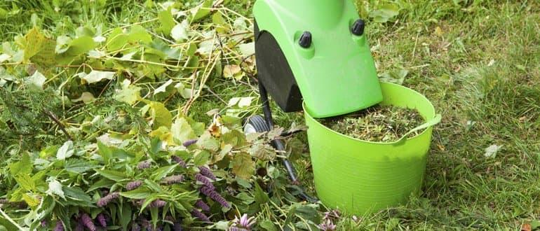 Gartenhäcksler mit Korb