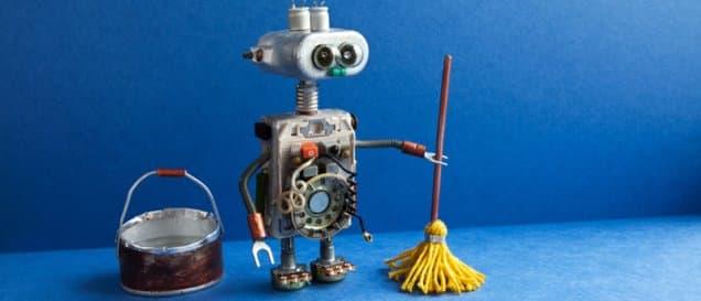 roboter mopp eimer
