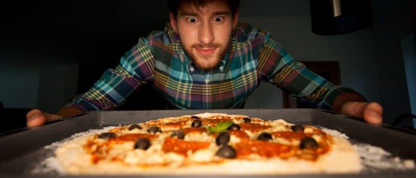 Minibackofen Pizza