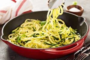 spiralschneider zucchini zoodles spaghetti