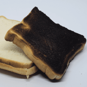 verbranntes toast