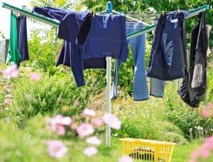 wäschespinne garten wäsche