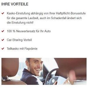 Vorteilsübersicht zu Autoversicherung der Generali
