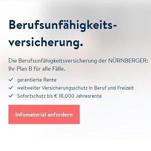 Berufsunfähigkeitsversicherungs Angebot der Nürnberger