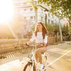 city-bike-frau