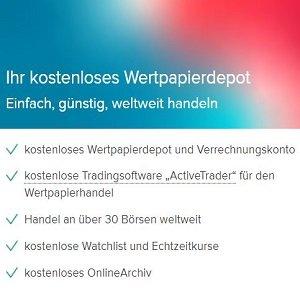 Angebotsübersicht zu Depot der Consorsbank auf Homepage