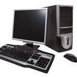 Desktop-Computer und Monitor