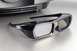 Brille zum Anschauen von Inhalten mit einem 3D-Beamer