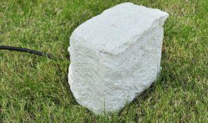 gartensteckdose stein