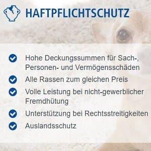Zusammenfassung des Hundehaftpflicht-Schutzes auf Agila-Homepage