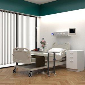 komfortables Einzelzimmer in Spital, das dank Krankenzusatzversicherung genutzt werden kann