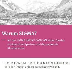 Angebot der SIGMA Bank in Liechtenstein für einen Kredit ohne Schufa