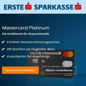 Angebote der Erste Sparkasse für Platinum Mastercard Kreditkarte