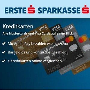 Angebot der Erste Sparkasse für Kreditkarte mit Reiserücktrittsversicherung