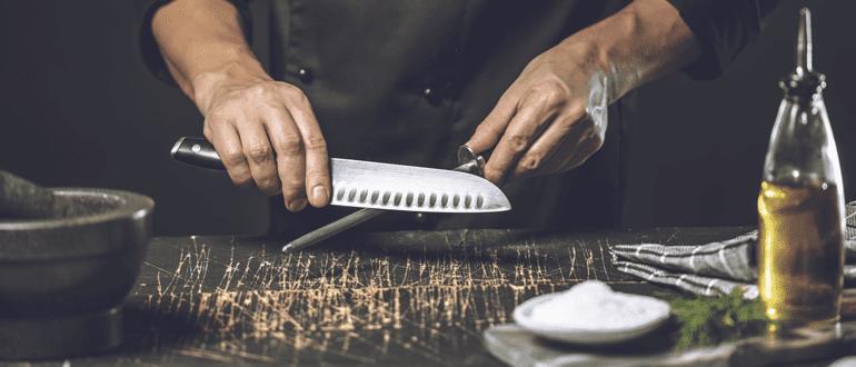 Küchenmesser Wetzstahl nutzen