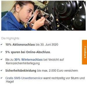 Motorradversicherungs Angebot der Zurich Versicherung
