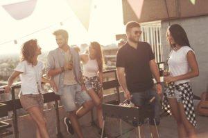 party auf balkon
