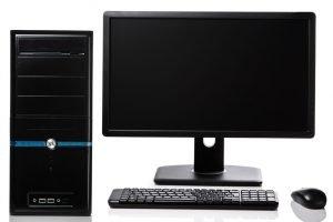 Desktop-Computer mit Monitor
