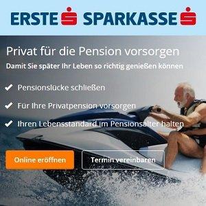 Angebot für fondsgebundene private Rentenversicherung der Erste Sparkasse