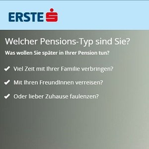 Pensions-Test zur Riester-Rente auf der Homepage der Erste Sparkasse