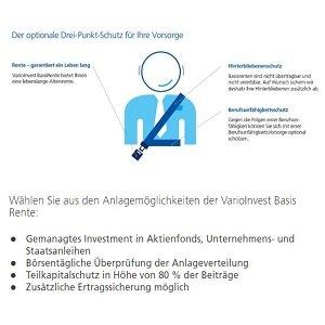 Rürup-Renten-Übersicht der Zurich-Versicherung