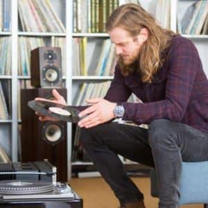 Schallplatten Musik hören